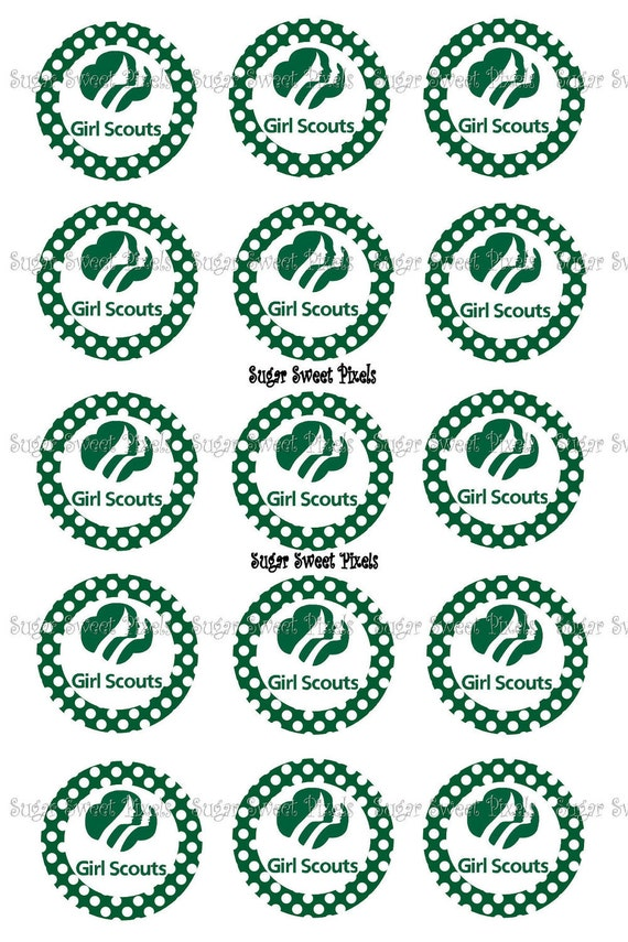 INSTANT DOWNLOAD Girl Scout Only  Inspired  1 inch Circle Bottlecap Images