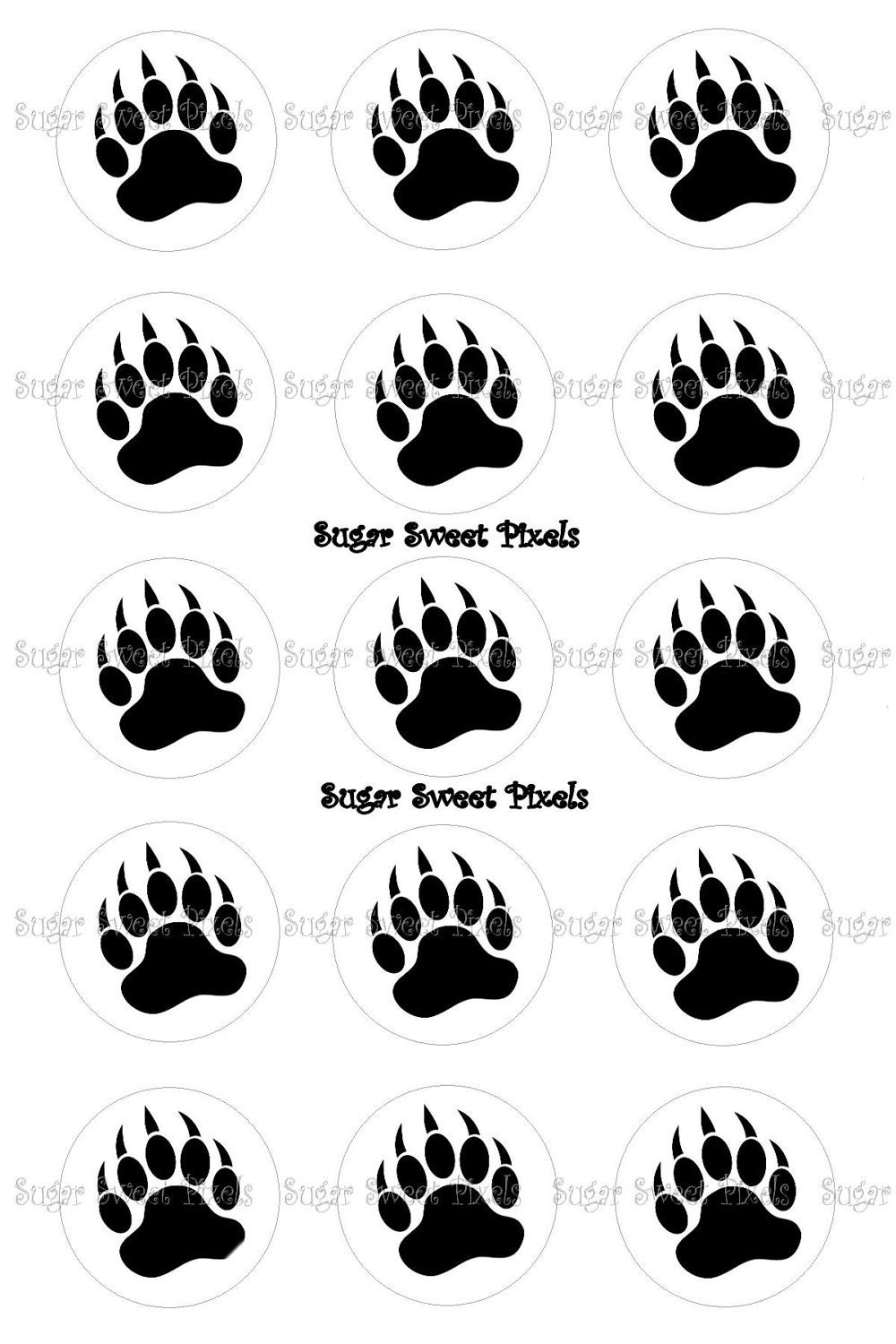 Search results for bear paw print template calendar 2015 for Bear footprints template