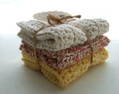 Crocheted Cotton Dishcloths / Washcloths