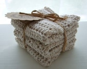 Crocheted Cotton Washcloths / Dishcloths