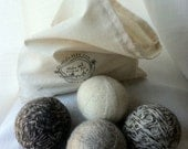 Wool Dryer Balls:  Set of 8