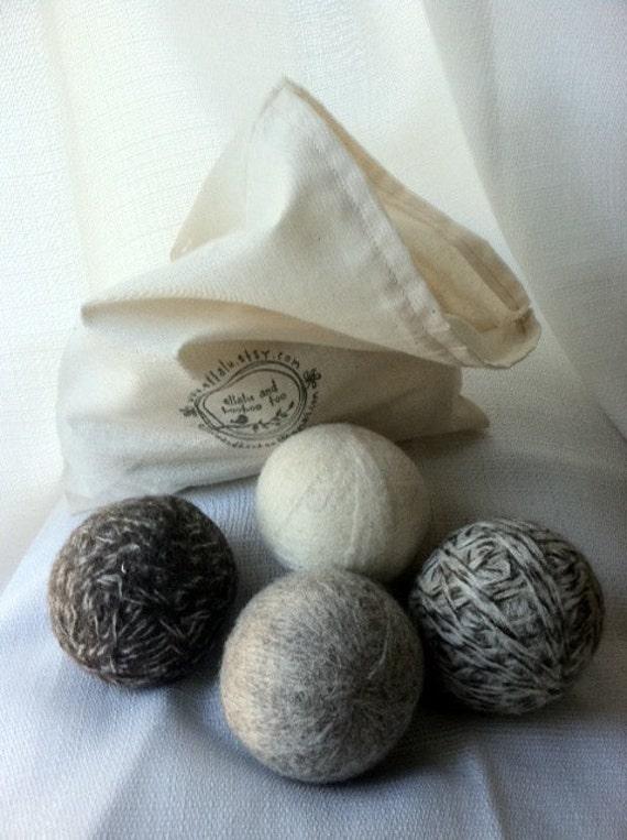 Wool Dryer Balls:  Set of 8