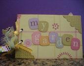 My Garden 4x6 scrapbook album