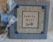 Family Days scrapbook album