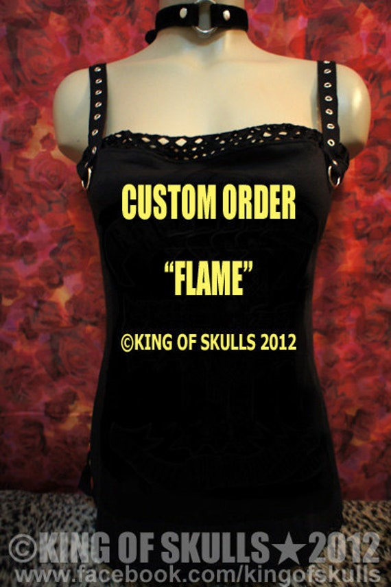 Custom Made/Order DIY  Flame Tank Top XS/S/M/L/XL I will alter your T-shirt  to sexy top