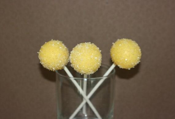 Lemon Drop cake pops
