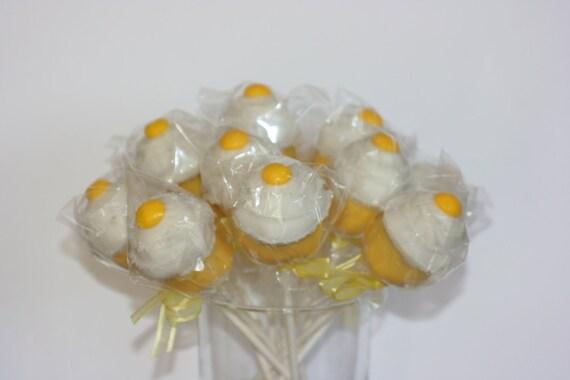 Yellow cupcake pops