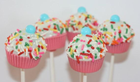 Sprinkled Cupcake cake pops