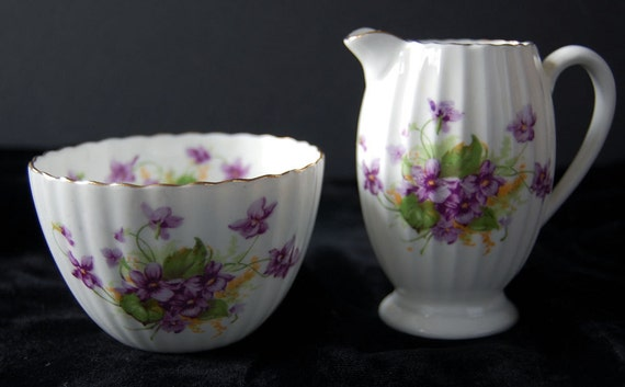 antique creamer and sugar bowl set radfords bone china