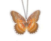 Real REVERSABLE butterfly wing necklace - Cethosia Biblis