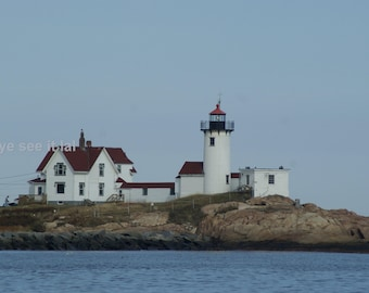 Eastern Point Light House from the water 5x7 Photo
