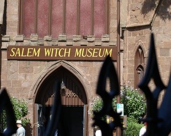 Front of the Witch Museum in Salem, Ma 5X7  Photo card