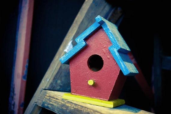Miniature Red Birdhouse
