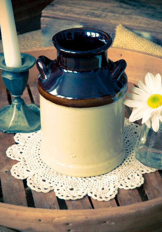 Vintage Stoneware Milk Can