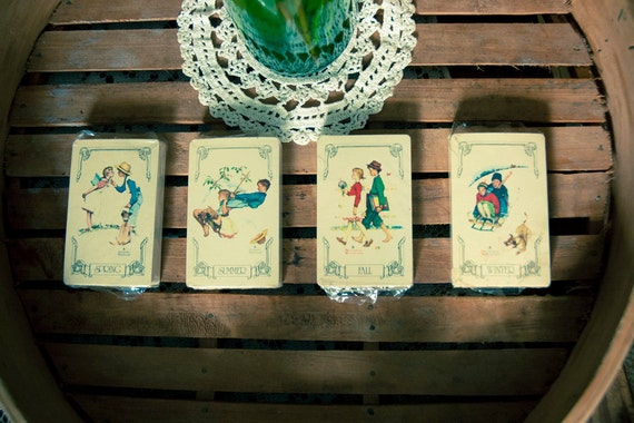 Norman Rockwell 4 Season Playing Cards