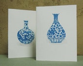 CHINOISERIE MING VASE Greeting Cards - Note Card Set
