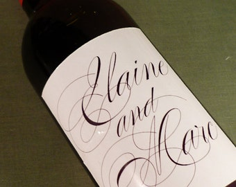 Custom Wedding Wine Bottle  Labels - personalized wine labels for weddings, anniversaries, and special events