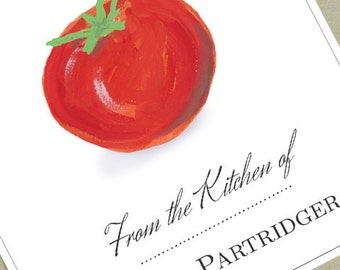 Custom Kitchen Label  with Tomato Motif- set of 18