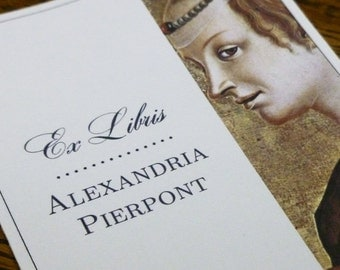 Personalized Bookplates with Renaissance Portraits