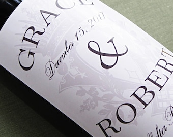 Personalized  wine label with regal motif