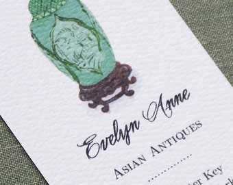 Chinoiserie Ginger Jar Business Card,  Set of 50