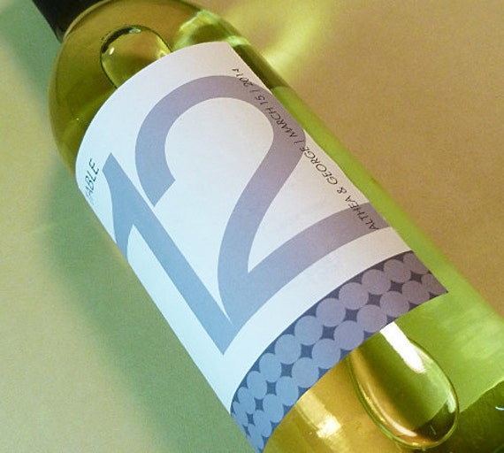 Table Numbers Wine Labels for weddings with modern appeal