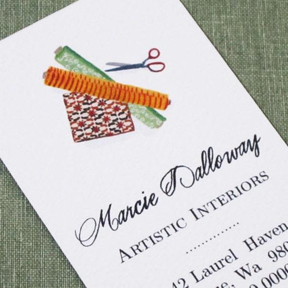 Interior Design Business Cards - Set of 50