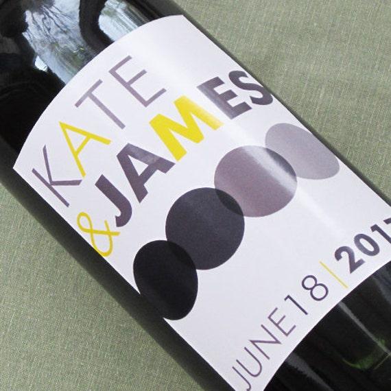 Modern Wine Labels for Weddings