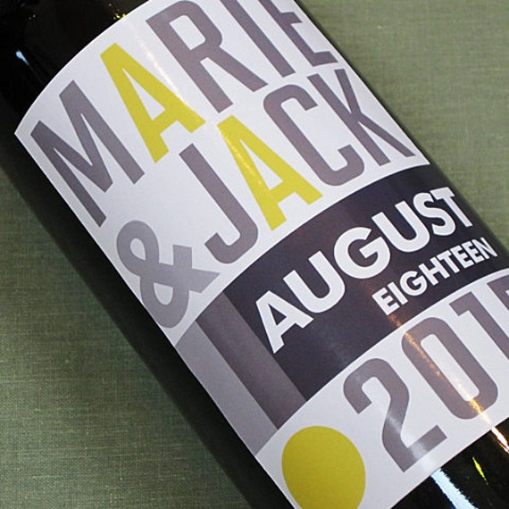 Custom Wine Labels, Modernist Retro