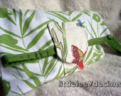 Trendy upcycled Fold over Wristlet and Clutch