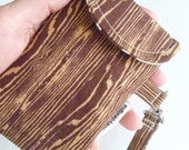 SALE Woodgrain gadget pouch - fits lg optimus android and iphone