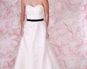 Yves - Tulle Wedding Gown, Soft Ivory, Sweetheart Neckline, Ruched Bodice