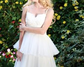 SALE - Ready to Ship - Short Wedding Dress, Reception Dress, Party Dress, Knee Length Wedding Dress