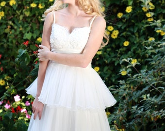 Ellan- Knee Length Wedding Dress