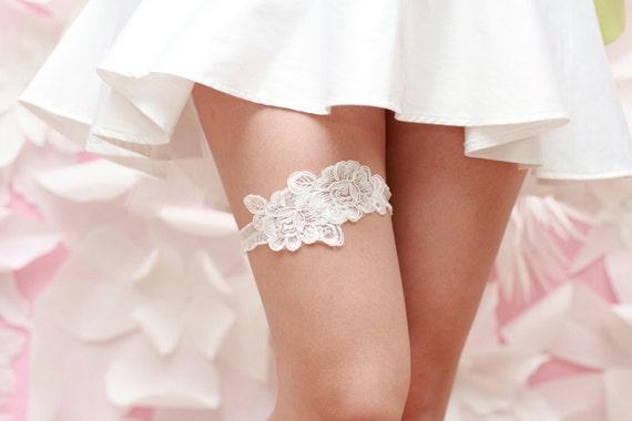 Wedding Garter White Venise Lace