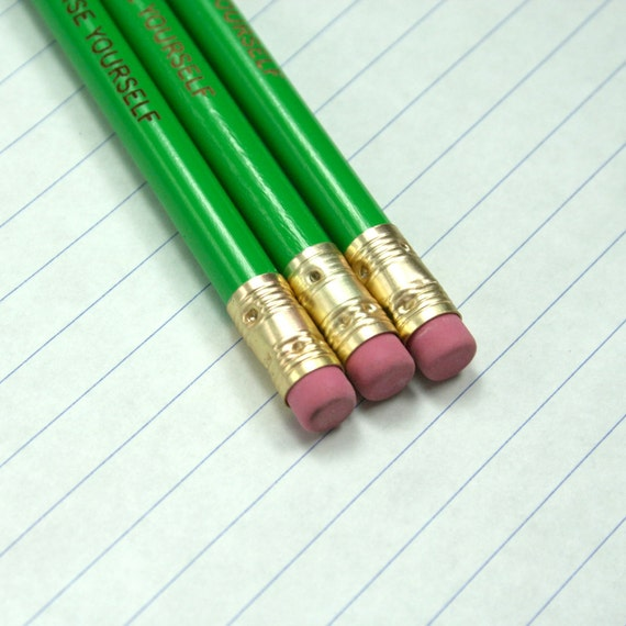 surprise yourself pencil set 3 three green pencils. get ready to get inspired and amaze yourself.