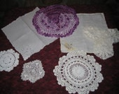 doily, cloth napkin, odds & ends for sewing onto finished project