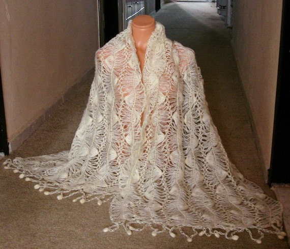 Crochet Lace Wedding Shawl Pattern : Alfa img - Showing > Lace Wedding Shawls or Wraps