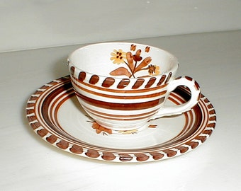 Demi Cup and Saucer California Hermosa by Vernon Kilns