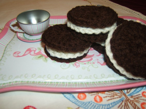 Crochet cookies Oreo Cookie Type Set of Six