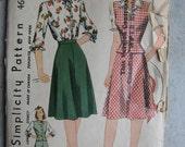 Vintage Simplicity Skirt, Blouse and Jerkin Pattern 4689