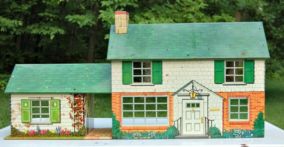 Vintage Tin/Metal Marx Lithos Dollhouse