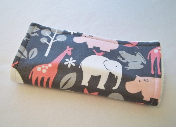 Zoology Bloom Animal Print Burp Cloth. Ready to Ship