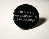 I'm burning up a sun to say goodbye - Whovian | Button