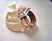 Fabricated Copper Crystal Ring