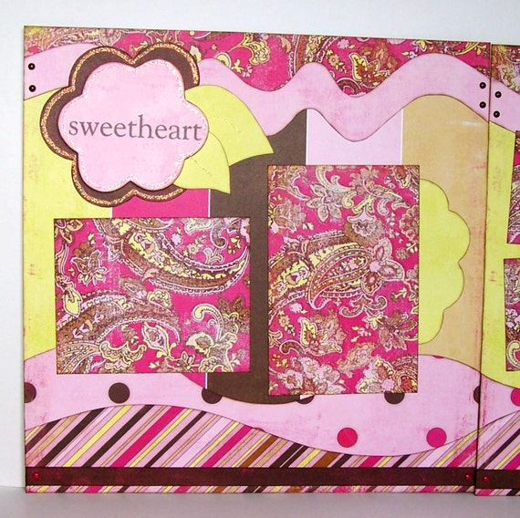 Sweetheart Premade 2 Page 12x12 Scrapbook Layout