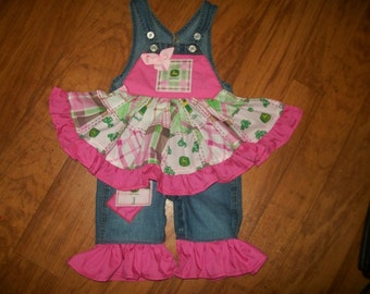 John Deere custom boutique overalls made in your size.  These are awesome
