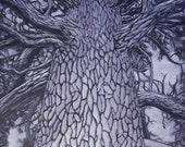 "Pine in Purple- Original Painting - 18"" x 24"""