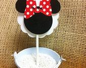 Minnie cupcake topper