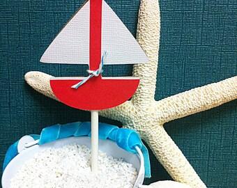 Sail boat Cupcake topper